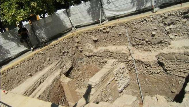 Excavaciones a 5 metros en el Patio de Banderas