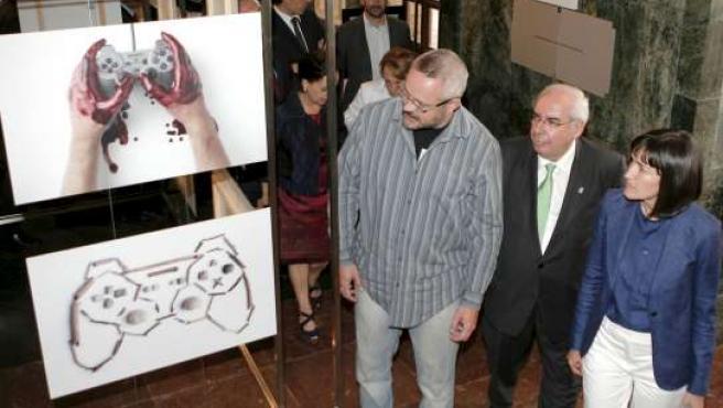 La ministra de Cultura y el presidente del Principado, en Gamelab