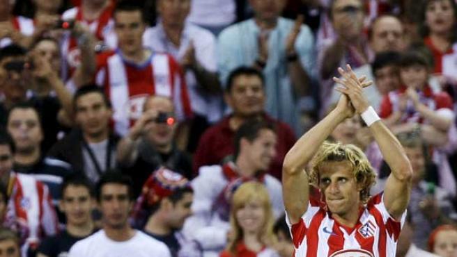 Diego Forlán, delantero del Atlético de Madrid.