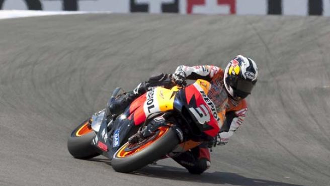 Dani Pedrosa logró la victoria en el Gran Premio de Estados Unidos.
