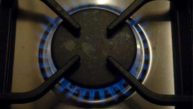 Un quemador de gas.