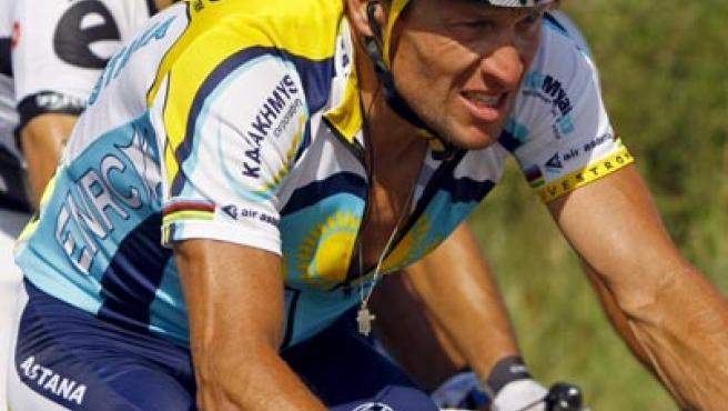 El ciclista de Astaná, Lance Armstrong, en el Tour de Francia.