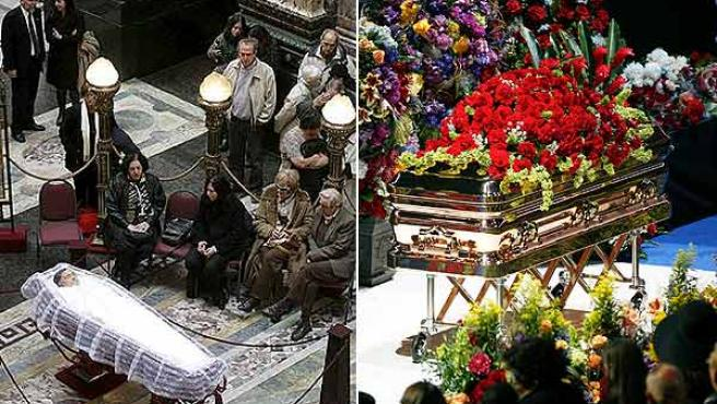 Los funerales de Mario Benedetti y de Michael Jackson.