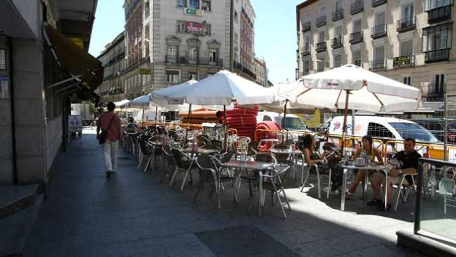 Una terraza en Madrid.