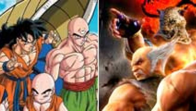 Ilustraciones de Dragon Ball y Tekken.