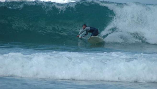 Pepo Torres se inició en el surf en 1990.
