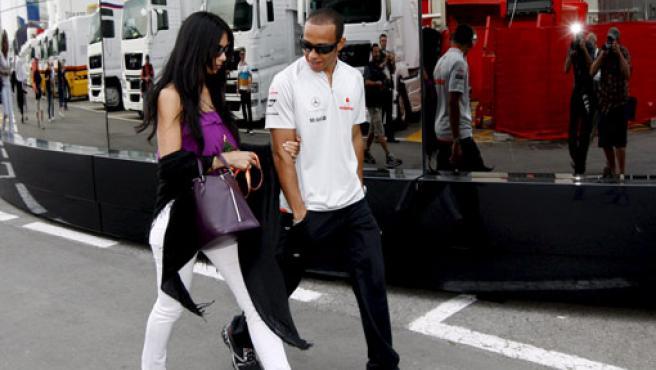 Lewis Hamilton y Nicole Scherzinger.