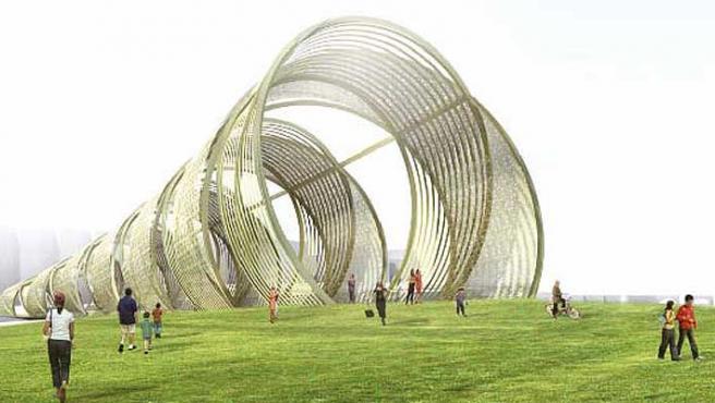 El tirabuzón será un puente con circunferencias en forma de espiral sobre el río Manzanares.