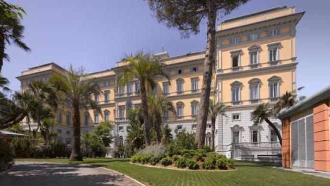 Fachada del Hotel Palazzo de Livorno