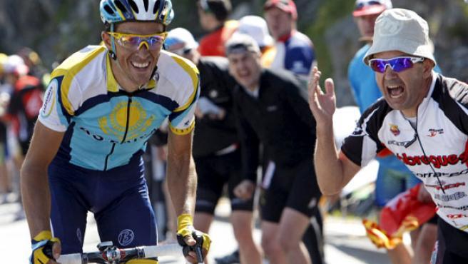 Alberto Contador, en la séptima etapa.