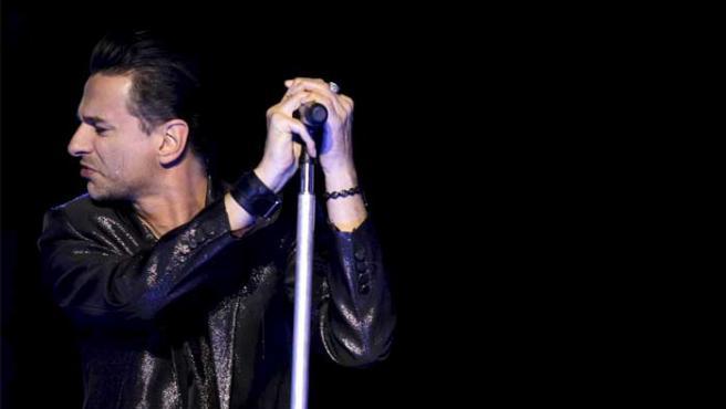 David Gahan, vocalista de Depeche Mode, durante una actuación.