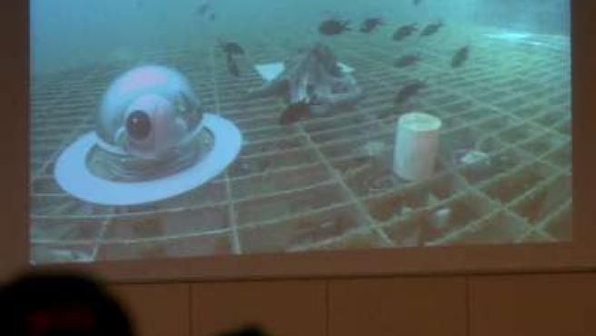 Imágenes del laboratorio submarino.