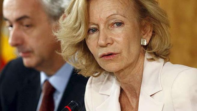 La vicepresidenta y ministra de Economía, Elena Salgado, en una imagen de archivo.