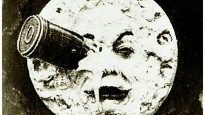 Imagen de la película 'Viaje a la Luna' (1902) de George Méliès.
