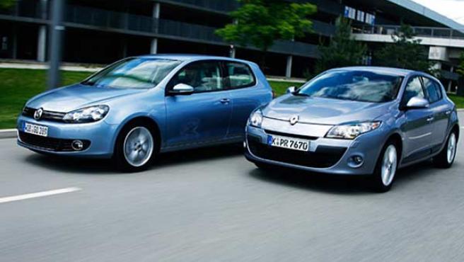 Las versiones renovadas de ambos modelos, Golf en su sexta generación y Mégane en su tercera edición.