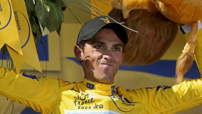 Alberto Contador, virtual vencedor del Tour de Francia.