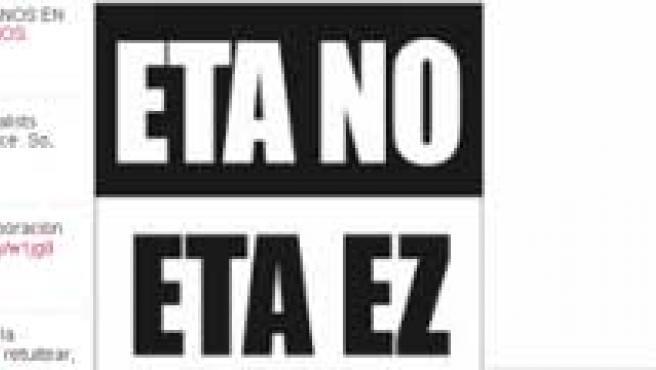 Twitter contra ETA.