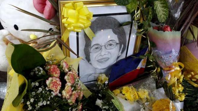 Luto en Filipinas por la muerte de su ex presidenta, Corazón Aquino.