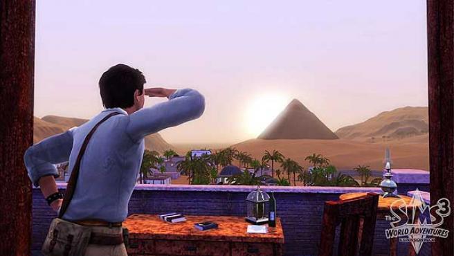 Una imagen de 'The Sims 3 World Adventures' en Egipto.