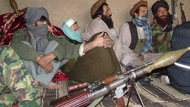 Un grupo de talibanes en una imagen de archivo.