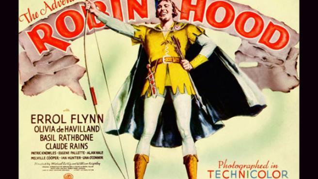 Uno de los carteles de 'Robin de los bosques' (1938).