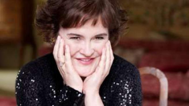 Susan Boyle, en Harper's Bazaar.