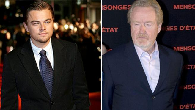 Leonardo DiCaprio y Ridley Scott.