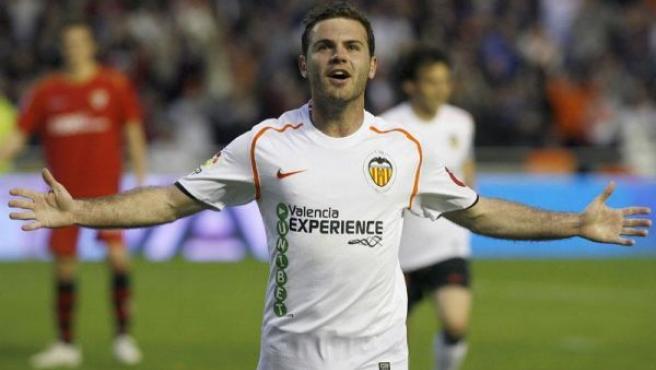Juan Mata, centrocampista del Valencia.