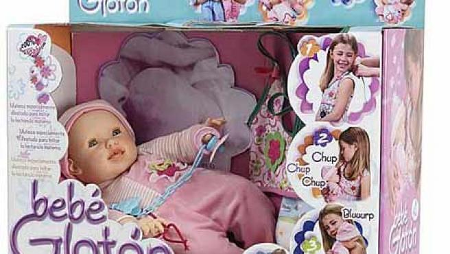 'Bebé Glotón' es el primer muñeco lactante.