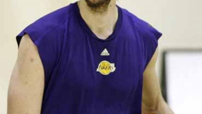 Pau Gasol, con Los Angeles Lakers.