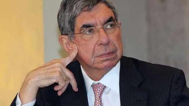 El presidente de Costa Rica, Oscar Arias, en una conferencia de prensa en San José.