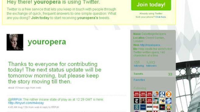 La Royal Opera House en Twitter.