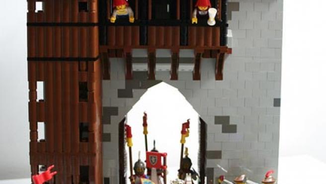 Escenarios y figuras medievales de Lego.