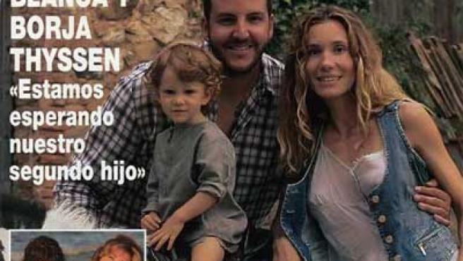 El matrimonio Borja Thyssen y Blanca Cuesta en la portada de la revista ¡Hola!.