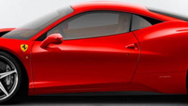 Vista de perfil del Ferrari 458 Italia.