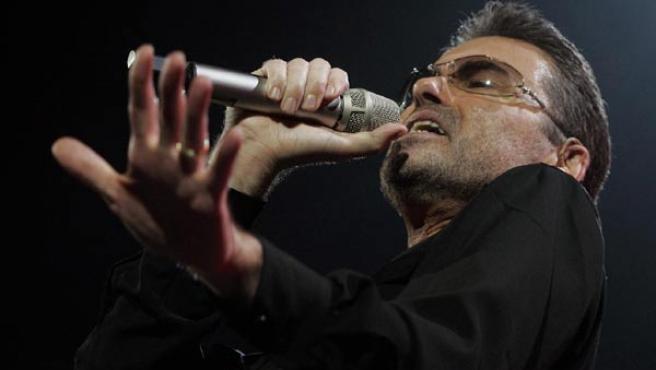 George Michael, durante una actuación en directo.