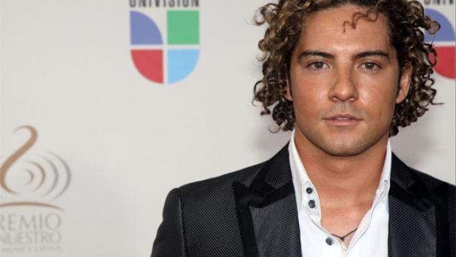 David Bisbal en los premios latinos de la música.