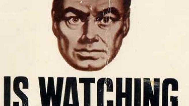 Cartel del Gran Hermano de Orwell.