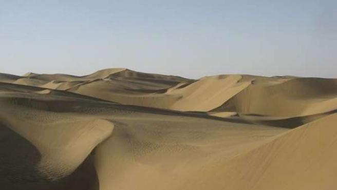 Imagen del desierto Taklamakan.