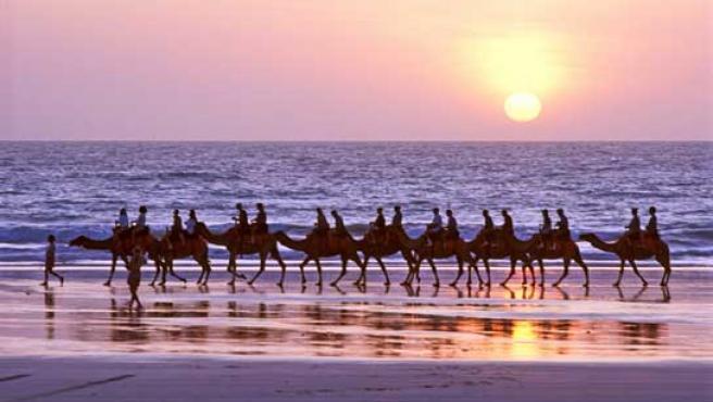 Playa de Cable Beach, en Australia.