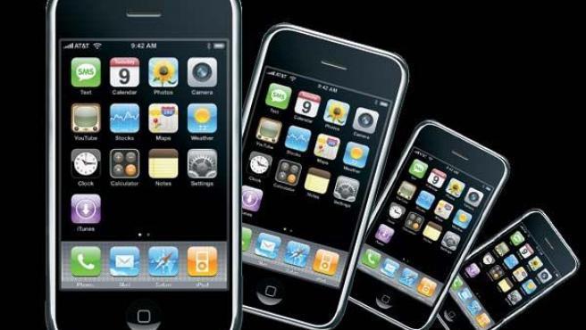 Varios terminales de Apple.
