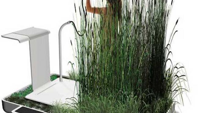 Boceto de la nueva ducha ecológica.
