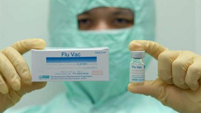 Vacunas contra la gripe A.