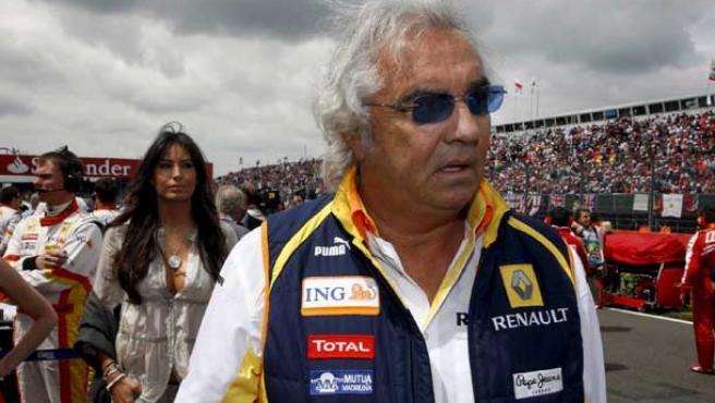Flavio Briatore, en una instantánea cuando dirigía al equipo Renault.