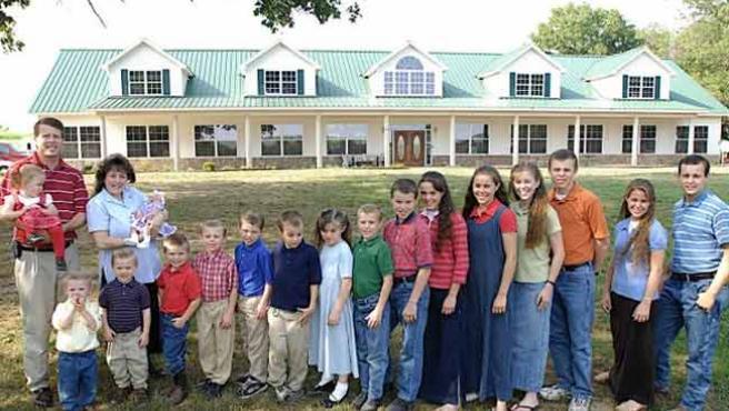 La familia Duggar en su casa de Arkansas (EE UU).