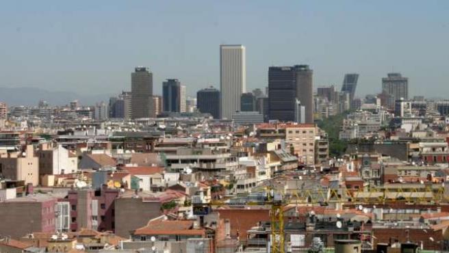 Panorámica de Madrid, con el centro financiero de la ciudad al fondo.