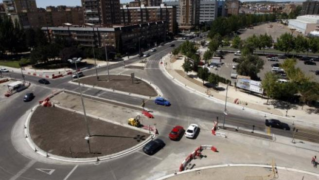 Estado de las obras en la avenida Salamanca.