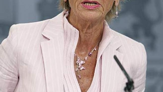 La vicepresidenta primera del Gobierno, María Teresa Fernández de la Vega, en una foto de archivo.