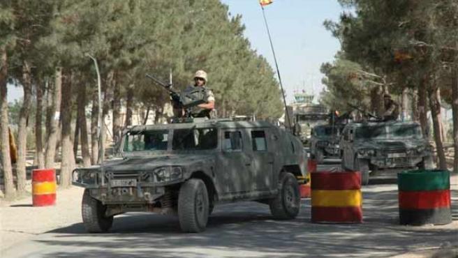 Control de las tropas españolas en la ciudad de Herat.