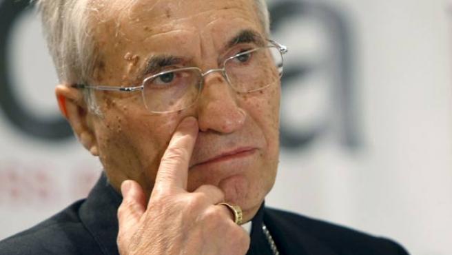 El presidente de la Conferencia Episcopal, Antonio María Rouco Varela.